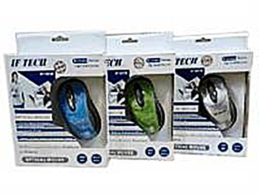 "USB Optical Mouse ""IF TECH"" V.2 คละสี"