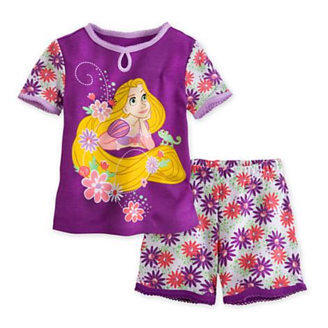 zRapunzel PJ Pal Shorts Set for Girls Size4