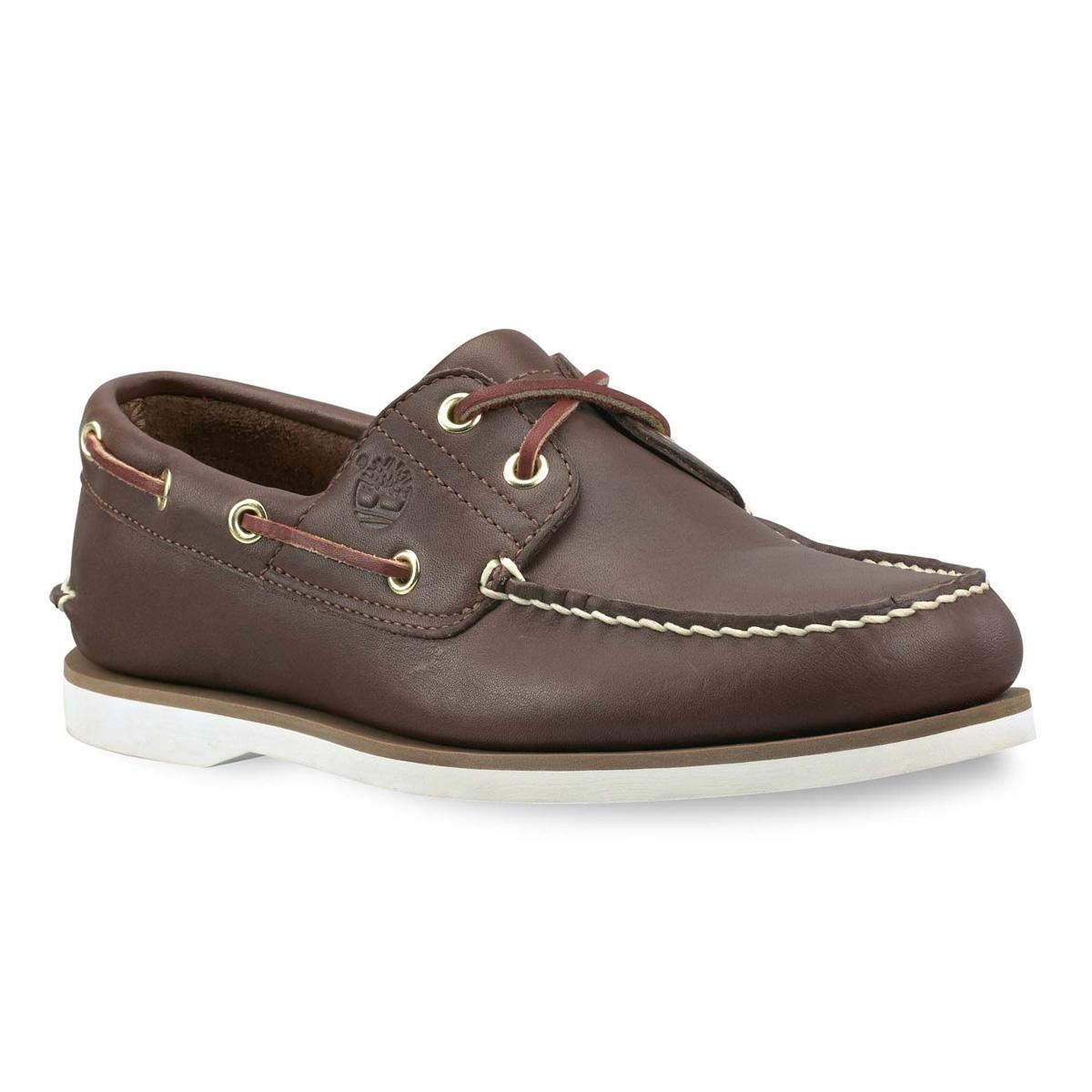 รองเท้าหนัง Men's Earthkeepers Timberland Icon Classic 2 Tone 2 Eye Boat Shoe (Men's) - Dark Brown Smooth Size 40 - 44 พร้อมกล่อง