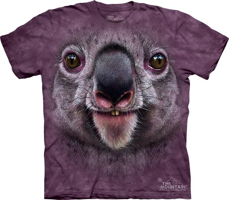 Pre.เสื้อยืดพิมพ์ลาย3D The Mountain T-shirt : Koala Face