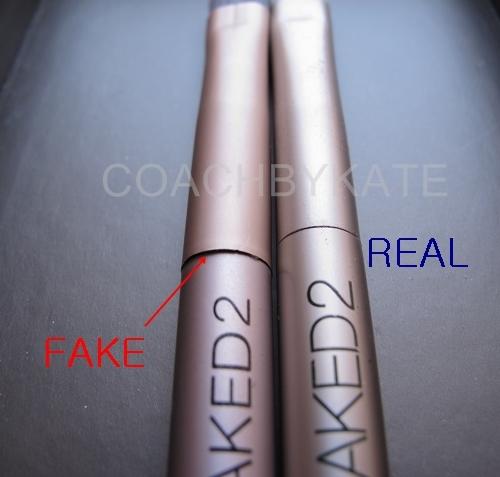 เปรียบเทียบ NAKED2 ของแท้ และ ของปลอม
