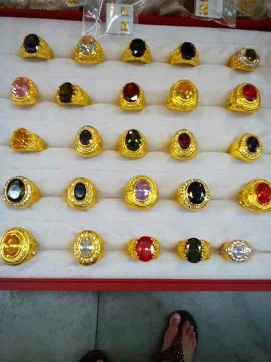 แหวนทองล้วน&หัวพลอย&หัวเพชร