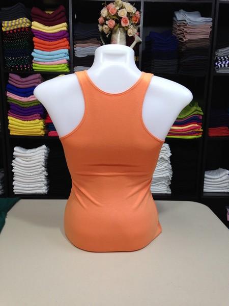 เสื้อกล้ามหลังสปอร์ต สีส้มอ่อน