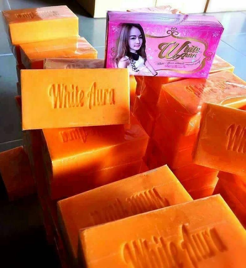 White Aura Miracle Carrot Soap สบู่ไวท์ออร่า สบู่แครอทแท้ 100% ขนาด 160 กรัม