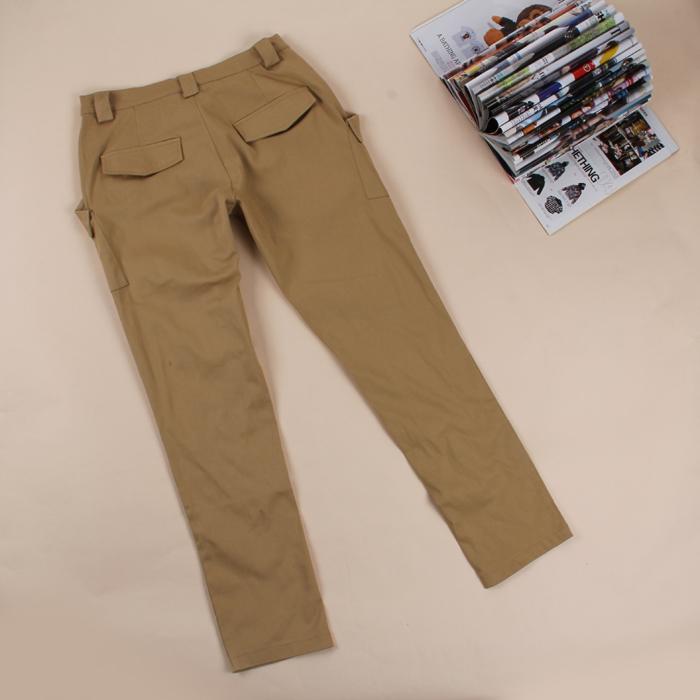 Qian Yi *Pre-order*กางเกงไซส์ใหญ่ ขายาว มีกระเป๋าหน้า -สีดำ สีน้ำตาล