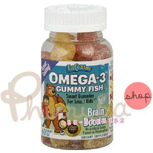Pre-Order L'il Critters Omega-3 DHA Gummy Fish 60 เม็ด