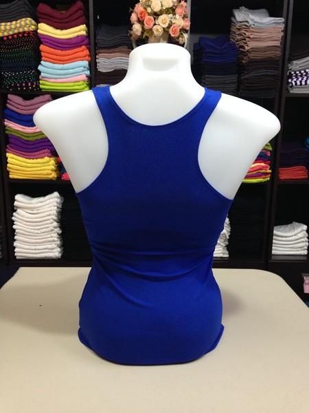 เสื้อกล้ามหลังสปอร์ต สีน้ำเงินสด