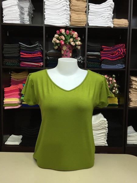 """เสื้อยืด size""""L"""" สีเขียวไพร"""