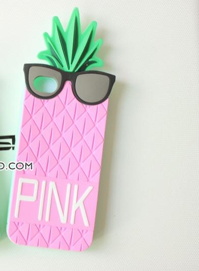 ***พร้อมส่ง***เคสซิลิโคนไอโฟน 5/5S Victoria 's Secret Pink สับปะรด 3D สีชมพู iPhone5/5S Case