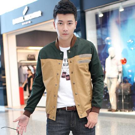 เสื้อแจ็คเก็ตแขนยาวเกาหลี ผ้าหนาดีมาก แต่งแถบสลับสี แนวเบสบอล มี3สี
