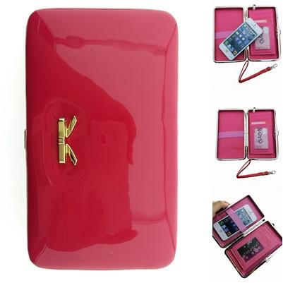 กระเป๋าสตางค์ size L แบบที่2 สีชมพูเข้ม