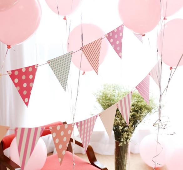 ชุดธงปาร์ตี้-Flag Paper Pennants