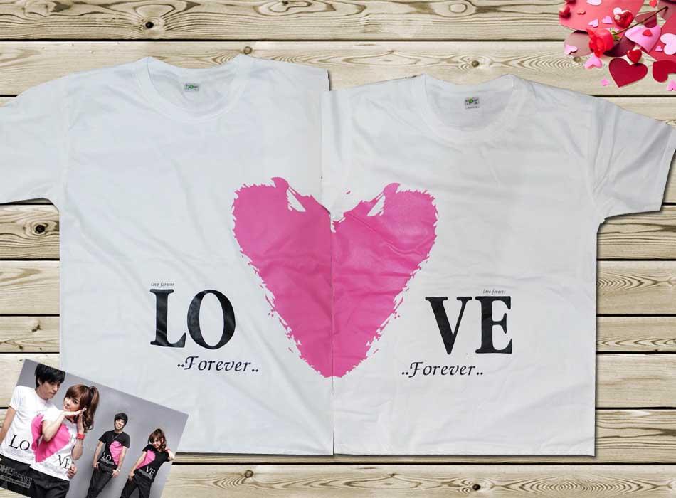 เสื้อคู่รัก หัวใจ Love forever มี 4 สี