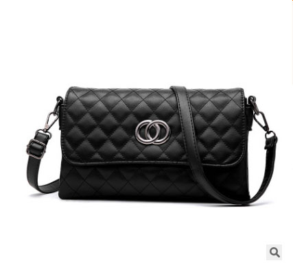 พร้อมส่ง กระเป๋าผู้หญิงใบเล็กสะพายไหล่และสะพายข้าง แฟชั่นสไตล์เกาหลี KO-5625 สีดำ 2 ใบ