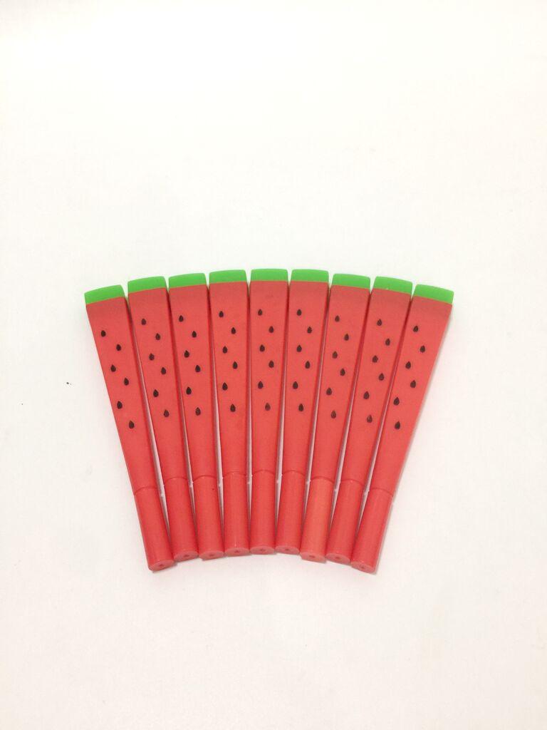 ปากกาเจลแตงโมหมึกน้ำเงิน (แพ็ค 12 ด้าม)