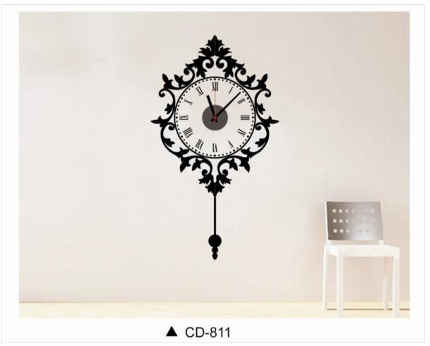 นาฬิกาพร้อมสติกเกอร์ CD811
