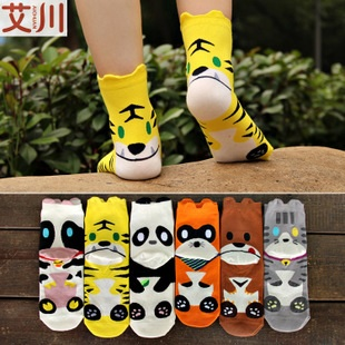 S292**พร้อมส่ง** (ปลีก+ส่ง) ถุงเท้าแฟชั่นเกาหลี ลายการ์ตูน ข้อยาว เนื้อดี งานนำเข้า(Made in China)