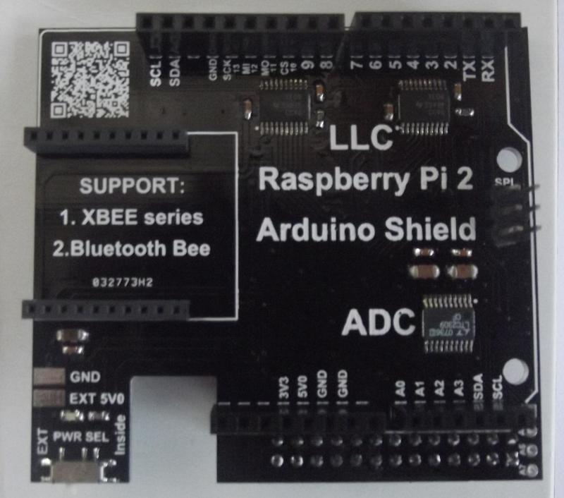 Raspberry Pi to Arduino Shield Connection Bridge