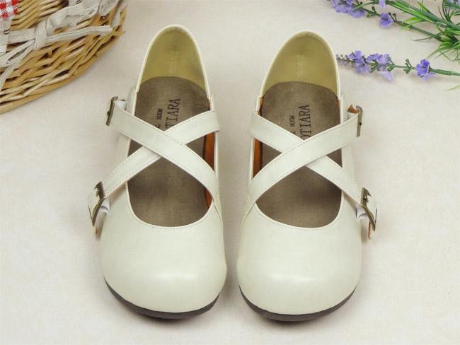 Pre-Order รองเท้าตุ๊กตา-สีขาวเทา
