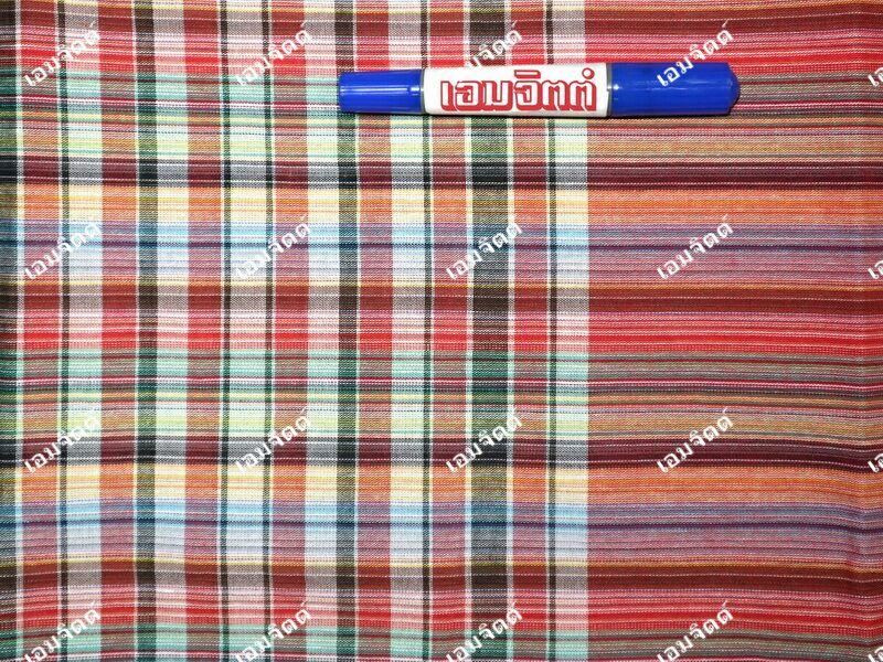 ผ้าขาวม้า TK138 แดง