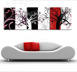 ภาพงานศิลป์ ต้นไม้สลับสี Art-Da