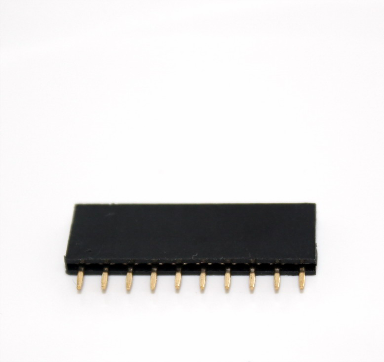 1X10 Pin Single Row Female Header 2.54mm Pitch Straight (จำนวน 1 ชิ้น)