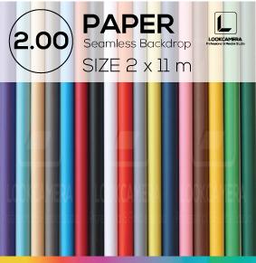 PAPER BACKDROP 200 ฉากกระดาษขนาด 2 x 11 เมตร (ใช้กับโครงฉาก M หรือ ML)