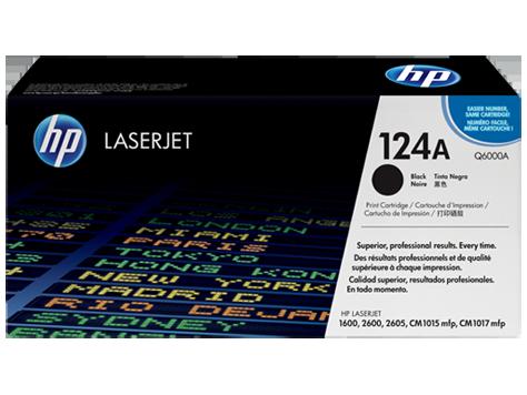 HP 124A ตลับหมึกโทนเนอร์ สีดำ ของแท้ Black Original Toner Cartridge (Q6000A)
