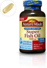 Nature Made Super Fish Oil 1,200mg. Liquid Softgel รุ่น Super Size อาหารเสริมน้ำมันปลาเสริมช่วยสร้างการเจริญเติบโตของปลายประสาท ของเซลล์สมองถ่ายทอดสัญญาณและผ่านข้อมูลระหว่างเซลล์สมองด้วยกัน ทำให้สมองทำงานดีขึ้นDHA ในสมองสูงขึ้น ความเครียดจะลดลงและสมองทำงา