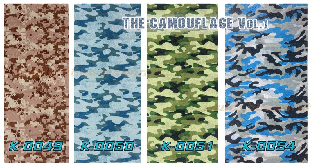 Headwear - The Camouflage Collections Vol.01 - 4 ผืน