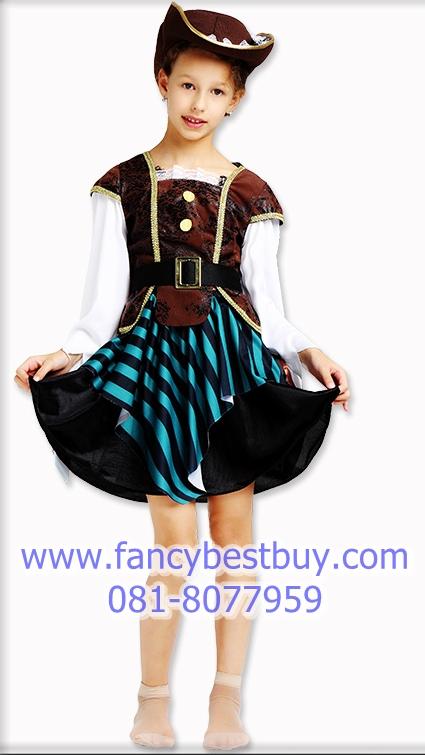 ชุดแฟนซีเด็ก สาวน้อยโจรสลัดสุดสวย Pretty Pirate Girl มี ขนาด XL (130-140 cm)