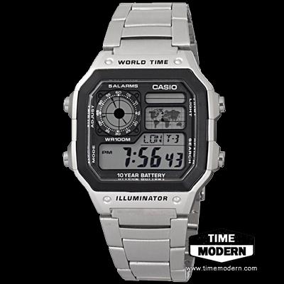 นาฬิกา Casio Standard 10 Year battery-Digital รุ่น AE-1200WHD-1AVDF