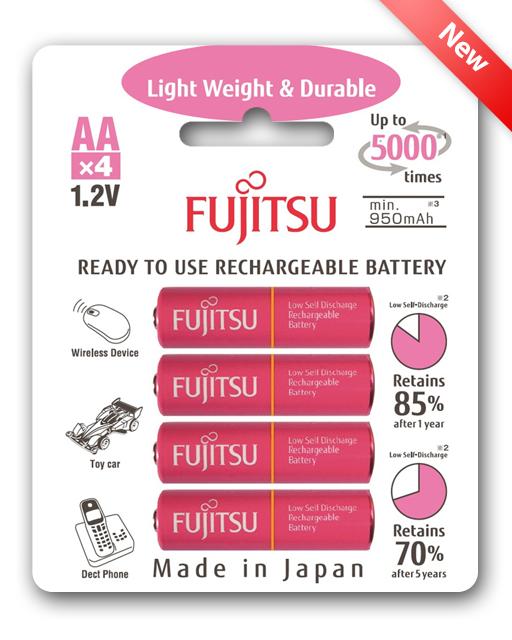 ถ่านชาท Fujitsu 900mAH 4 ก้อน