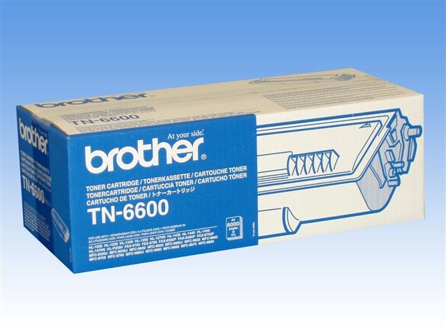 Brother TN-6600 ตลับหมึกโทนเนอร์ สีดำ Black Original LaserJet Toner Cartridge