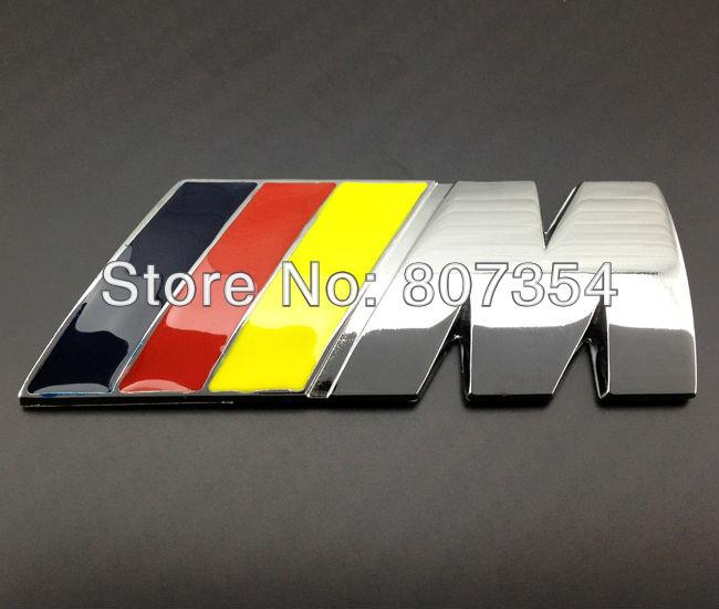 สติ๊กเกอร์ติดรถยนต์ 3D BMW งานโลหะ 3x8cm