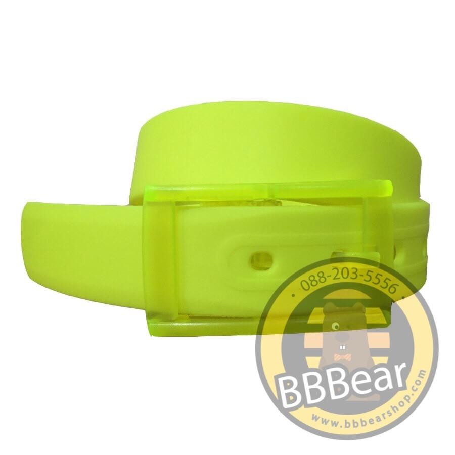 เข็มขัดซิลิโคน - 08 Yellow Green
