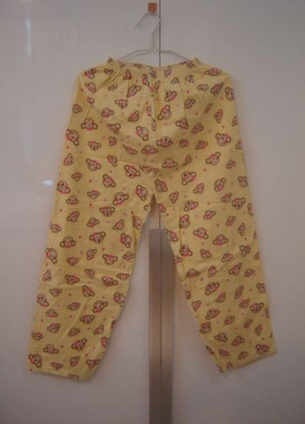 กางเกงขายาวผ้าฝ้ายลายน่ารัก เอวยืดได้