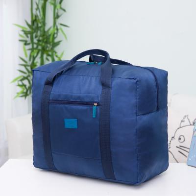 (สีน้ำเงิน) กระเป๋าเดินทางพับเก็บได้ สามารถพ่วงกับกระเป๋าเดินทางรถเข็นได้ ขนาด 42 x 34 x 18 CM ความจุ 30 ลิตร