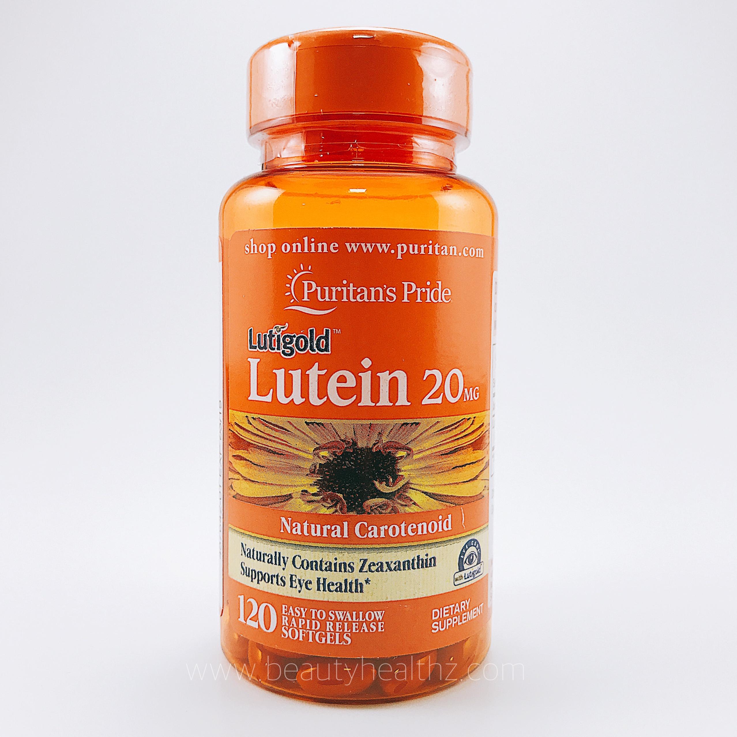 Puritan's Pride, Lutein 20 mg with Zeaxanthin, 120 Softgels
