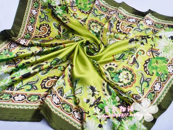 ผ้าพันคอผ้าซาติน Indian Style
