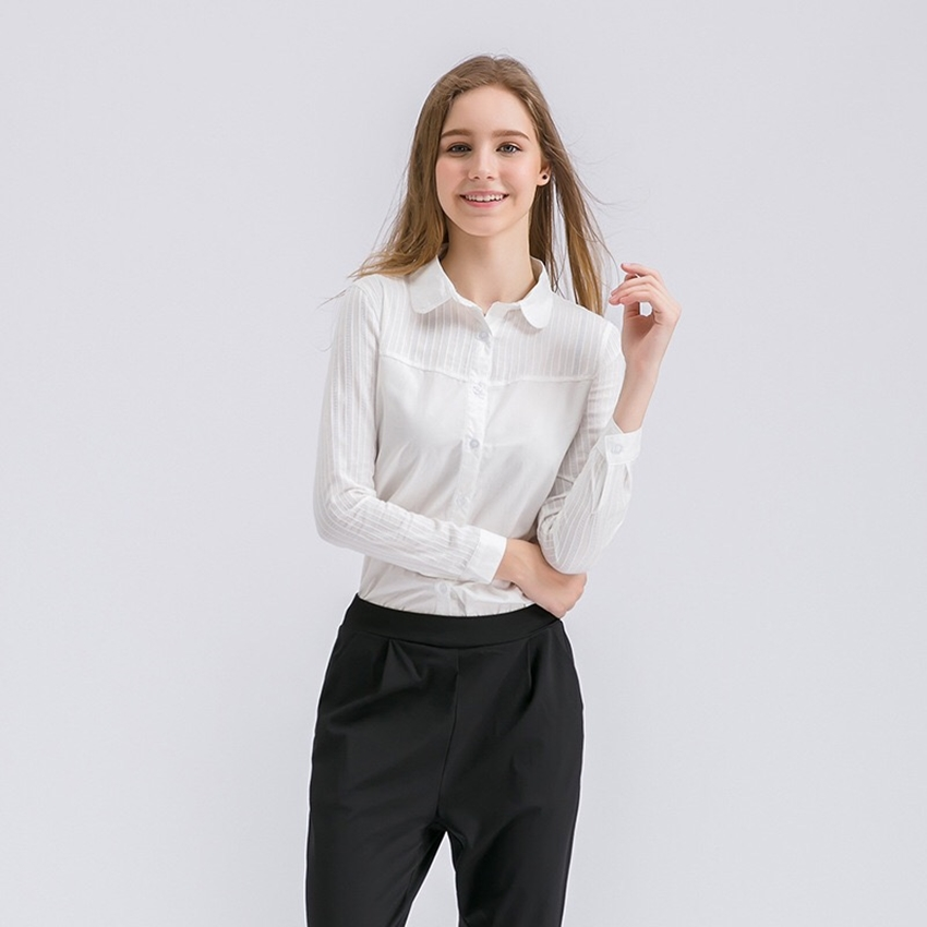 เสื้อเชิ๊ต Stitching Long-Sleeved