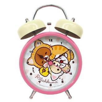 นาฬิกาปลุกตั้งโต๊ะ Rilakkuma สีขาว