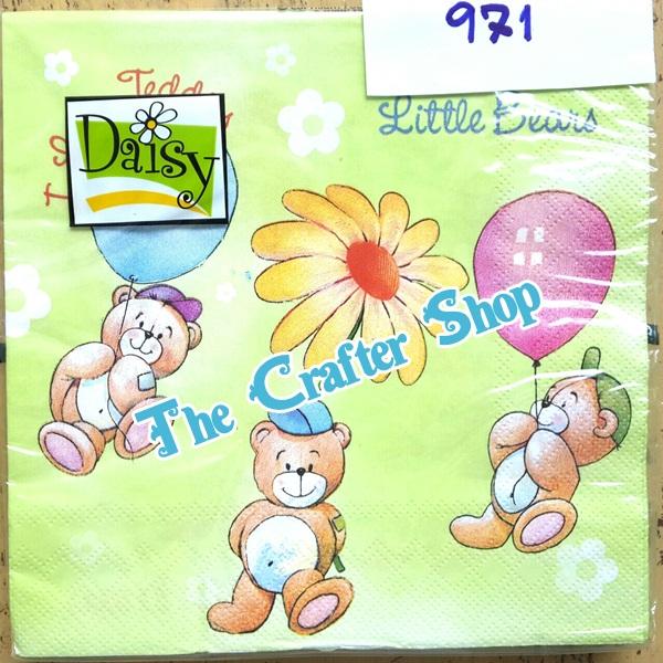 napkin ลายหมีการ์ตูน (รหัสสินค้า NA-971)