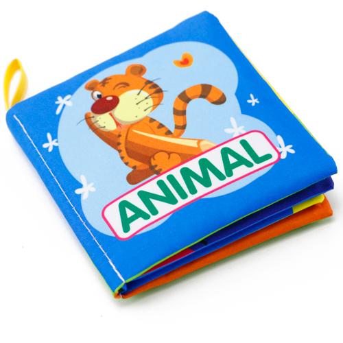 หนังสือผ้าเรียนรู้สัตว์ Animals ชุด 2