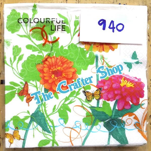 napkin ลายดอกไม้ (รหัสสินค้า NA-940)