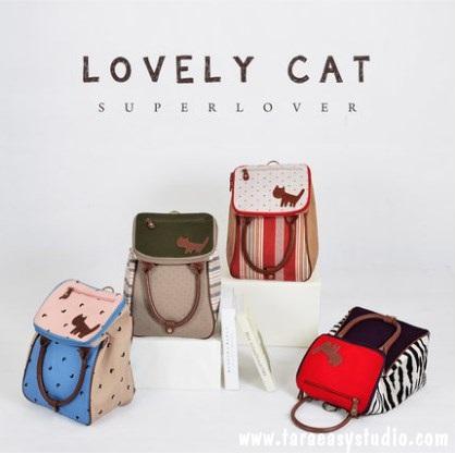 กระเป๋าเป้ SUPER LOVER ใหม่ Mori แมวเพศหญิงน่ารักแบบญี่ปุ่น มี 4 ลาย (Pre-Order)